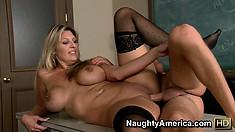 Jezebel Jones gets pounded by a bareback dick till she cums hard