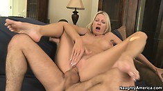 Emma Starr is aroused by the feeling of a massive wang between her flaps