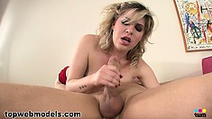 Jackie Avalon has a desire to swallow his tasty sausage deep down her throat