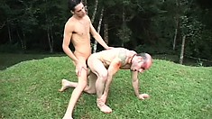 Even the wildest ass slamming can't make this sexy boy's cock go limp