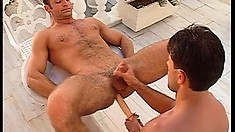 Hot gay studs Renato Bellagio and Luciano Endino take care of each other's needs