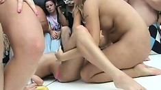 These chicks really love putting on nasty naked shows in public